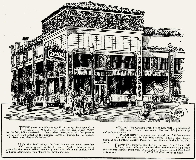 Caesar's Anniversary ad, 1931