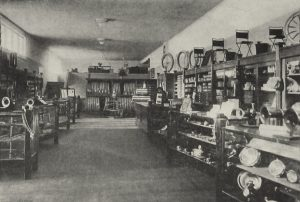 Gavin-Williams showroom in 1919 before it was Caesar Cardini Cafe, San Diego, CA