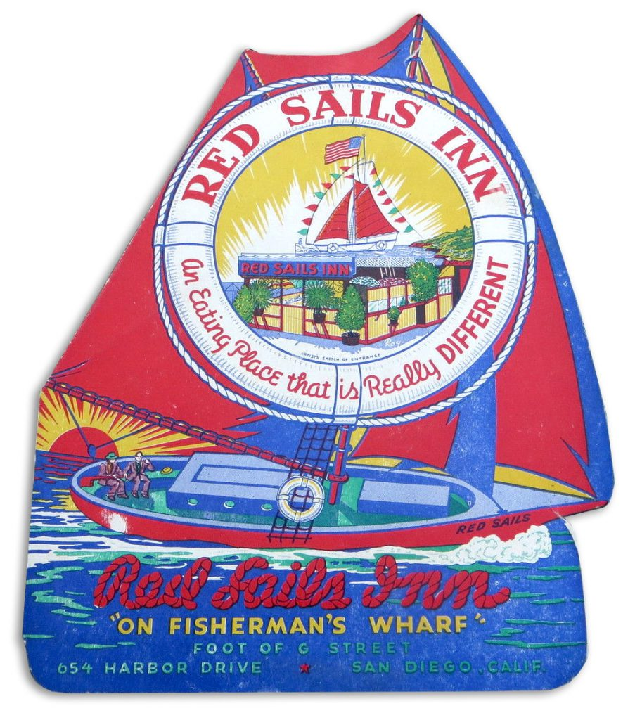 Red Sails Inn menu cover
