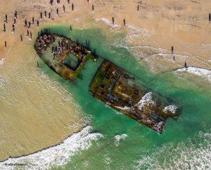 Wreck of S.S. Monte Carlo, Coronado, California