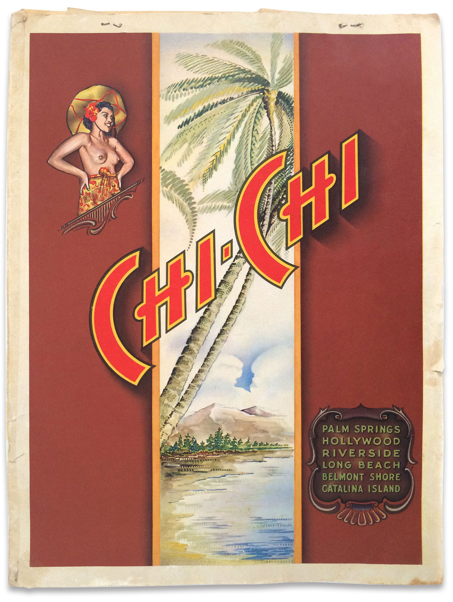1946 Chi-Chi Club menu cover