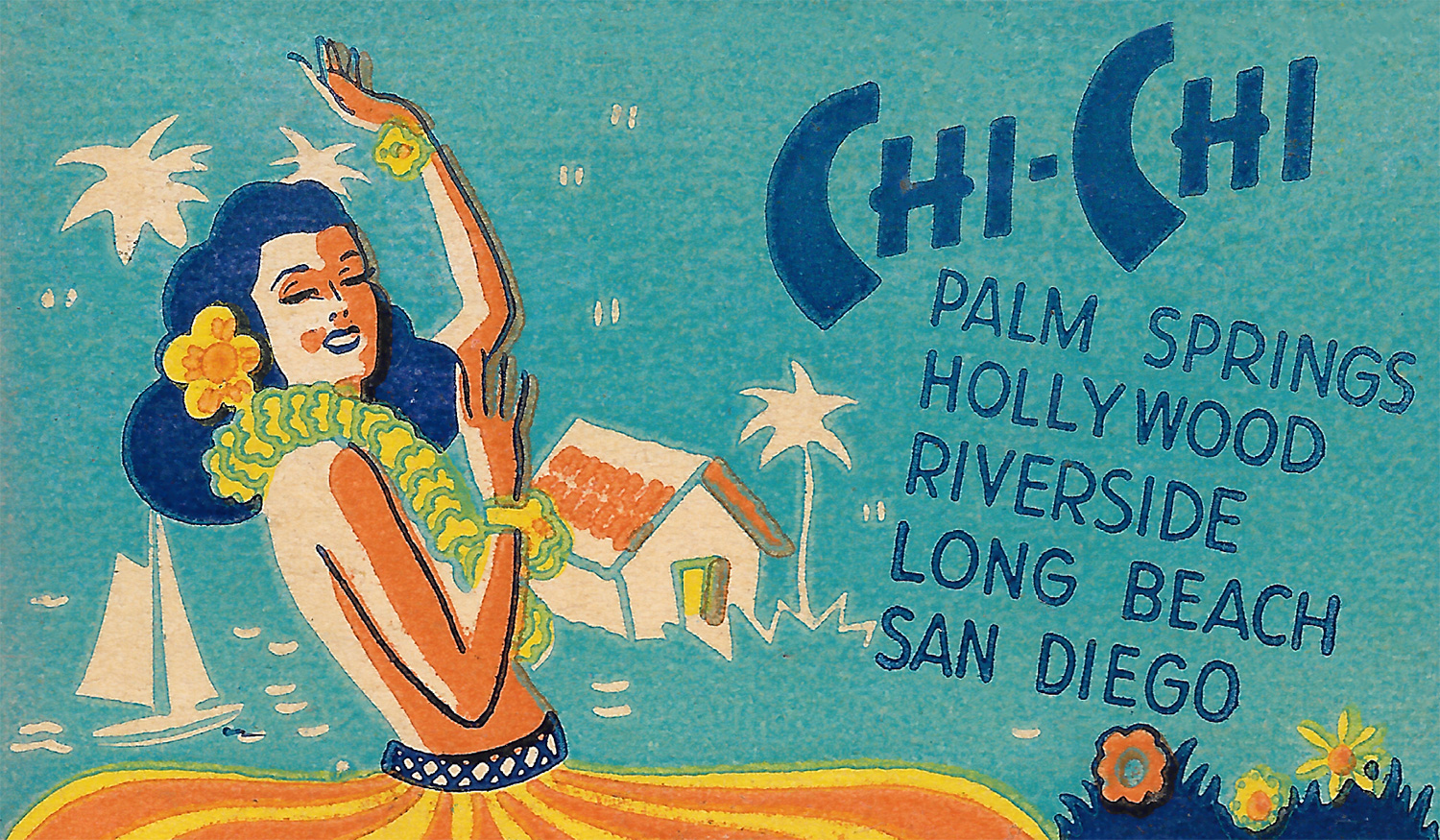 Chi-Chi Restaurants match cover art, c1947