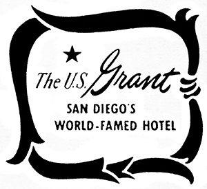 U.S. Grant Hotel logo, 1954