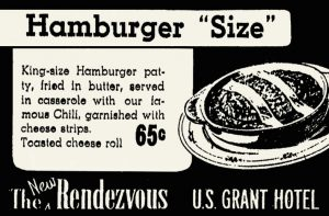 The U.S. Grant Rendezvous San Diego Hamburger Size recipe