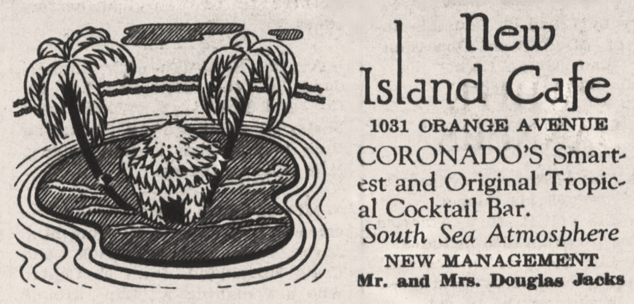 1938 Islands Cafe ad
