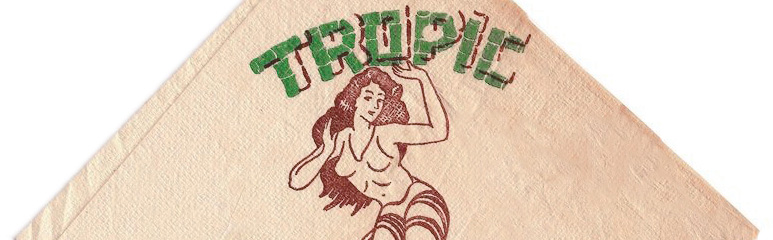Tropic Cafe cocktail napkin, c1940