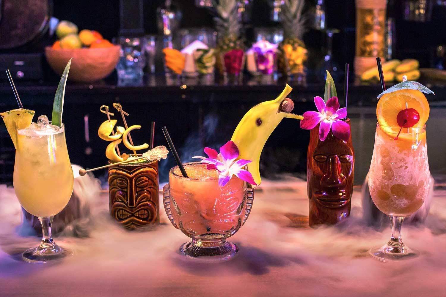Cat Eye Club tiki drinks, San Diego, 2016
