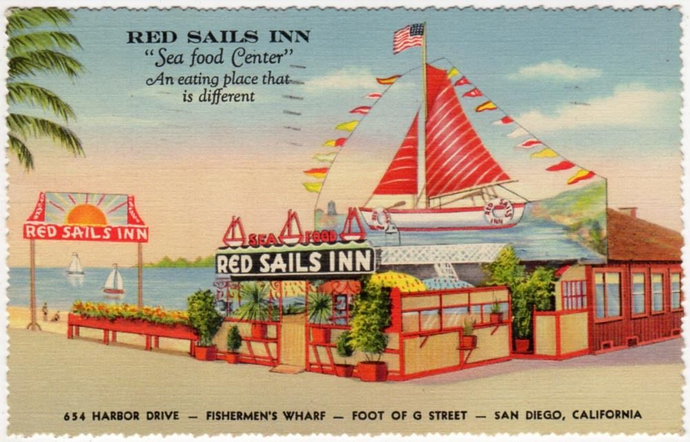 Red Sails Inn postcard, 1939