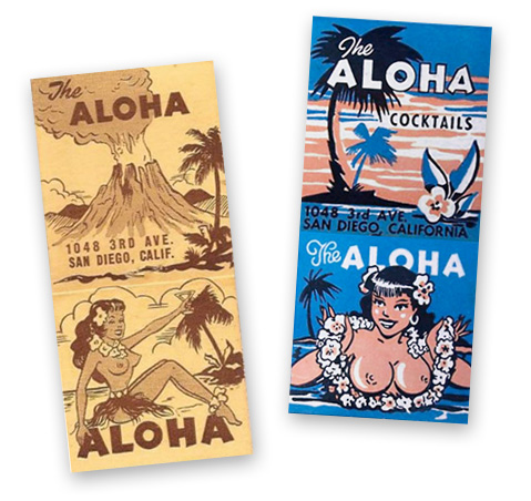 Aloha Club matchbook art
