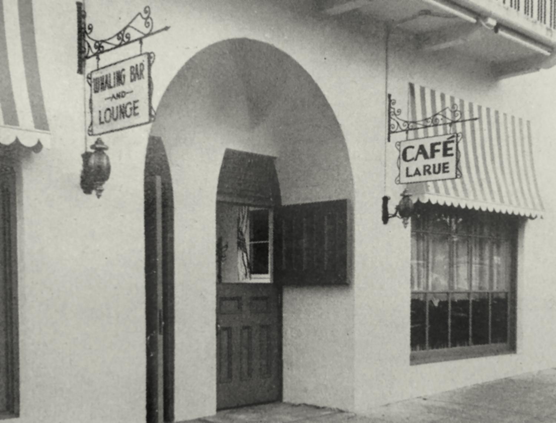 Whaling Bar cafe La Rue exterior