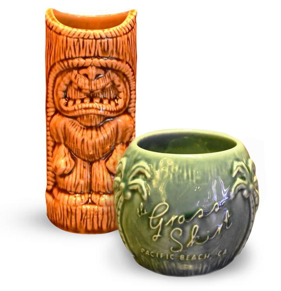 Grass skirt mugs