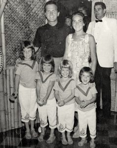 Pat Boone and family at Luau Room