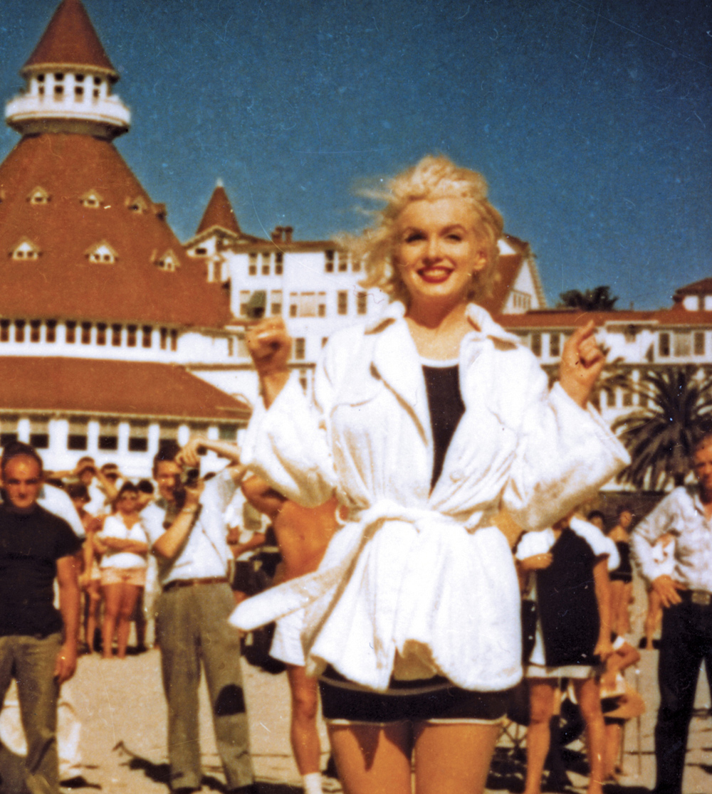 Marilyn Monroe at the Hotel del Coronado