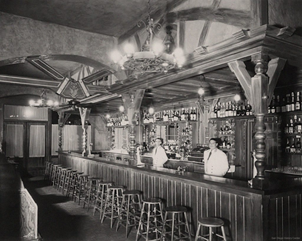 Bar at Original Caesar's Place, Tijuana, 1935