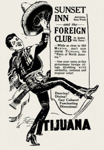 Foreign Club, newspaper advertisement, 1923