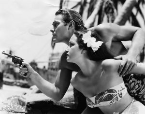 Jon Hall and Dorothy Lamour in The Hurricane