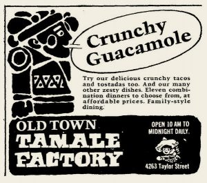 Old Town Tamale Factory ad