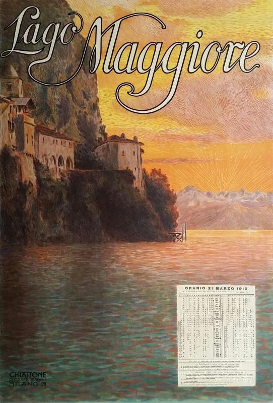 Lago Maggiore travel poster