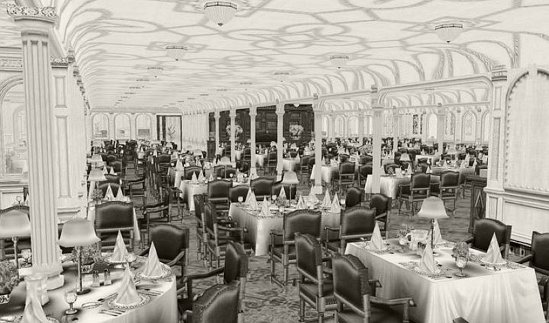 RMS Olympic dining room.