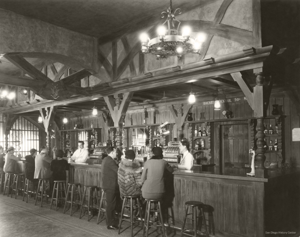 The bar at Paul and Alex's Tijuanan, 1932