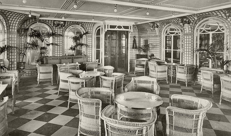 Palm Court aboard the RMS Olympic