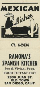 Ramonas Spanish Kitchen Old San Diego