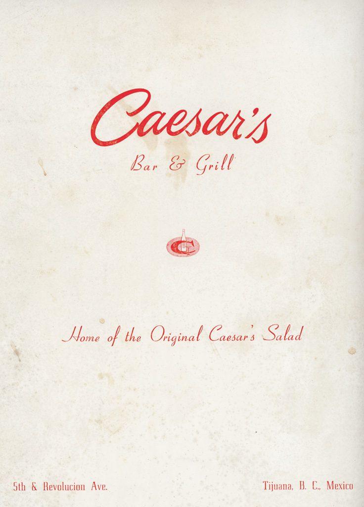 Caesars Tijuana menu cover