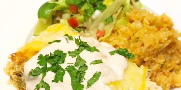 Helen Hernandez' Sour Cream Chicken Enchiladas