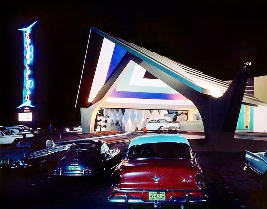 Bowlero bowling alley, Mission Valley, San Diego, 1958