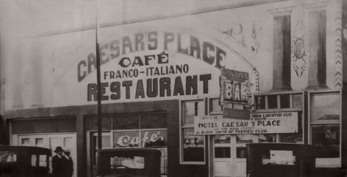 Caesar's Place cafe, Tijuana, c1930
