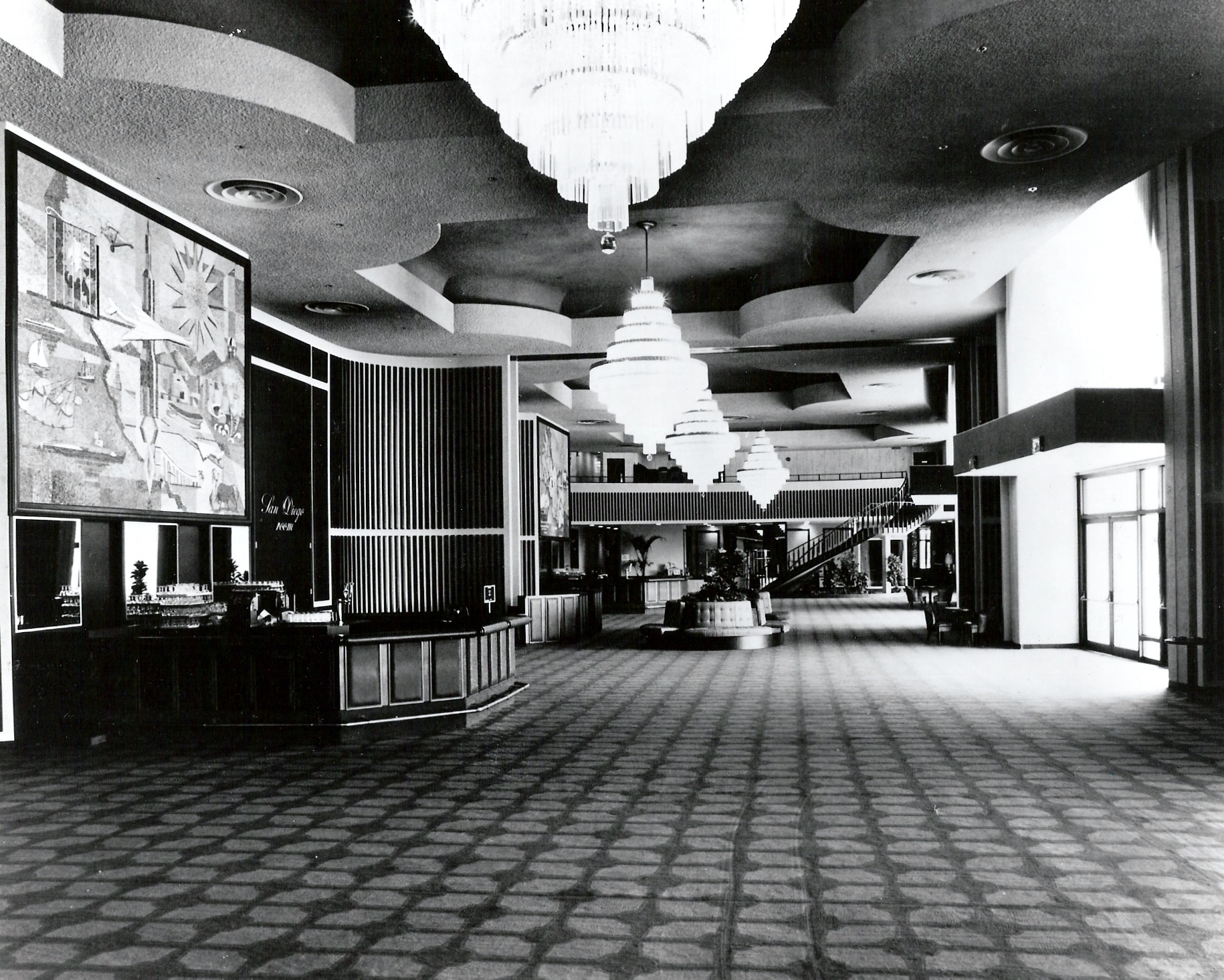 Town and Country, Convention Center, Atlas Ballroom foyer, 1975